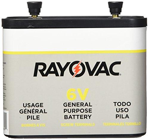 RAYOVAC Lantern Battery, 6 Volt Screw Terminals, 918C