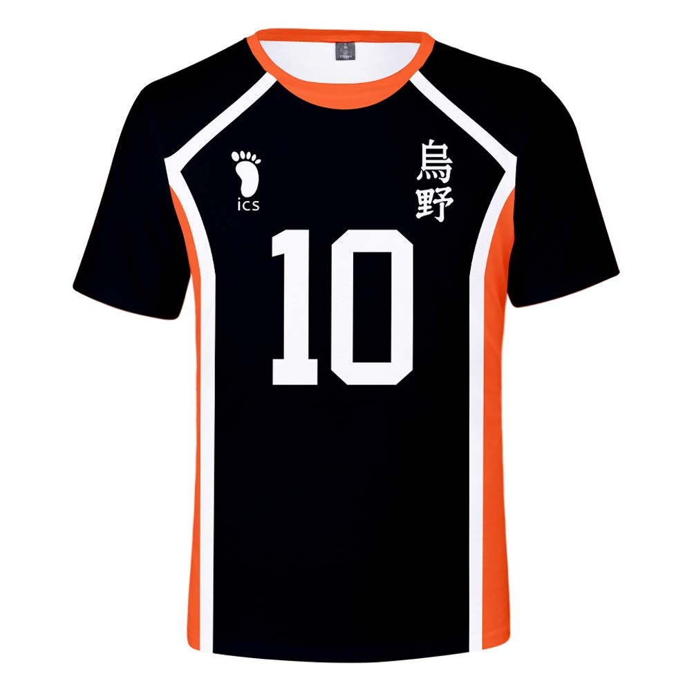 TISEAS Unisex Haikyuu Hinata Shoyo Cosplay T-Shirt Japanese Anime T-Shirt