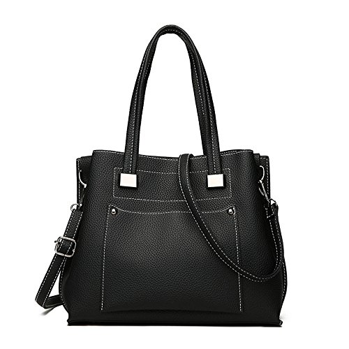 Sjmmbb Fashionable Women Handbag With One Shoulder, Black, Black 29x24x11cm