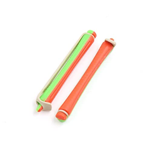 Amazon.com: Goma elástica eDealMax 10pcs 1.2cm Dia Verde Naranja Magic Hair Care rizador de n-Clip Peinado Roller: Health & Personal Care