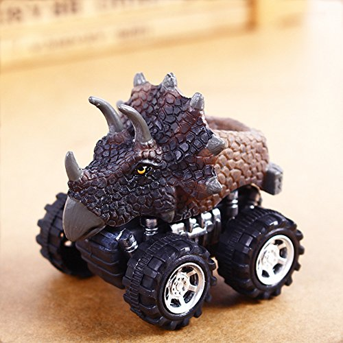 Qiyun Children Creative Mini Dinosaur Vehicle Wind Up Toy Cute Educational Play Car Toy Great Christmas Halloween New Year Gift for Kids (Toy Cars Halloween)