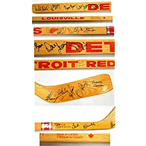 1980's Detroit Red Wings 18 Signatures Louisville Hockey Stick ~ Yzerman Auto Autographed NHL Sticks