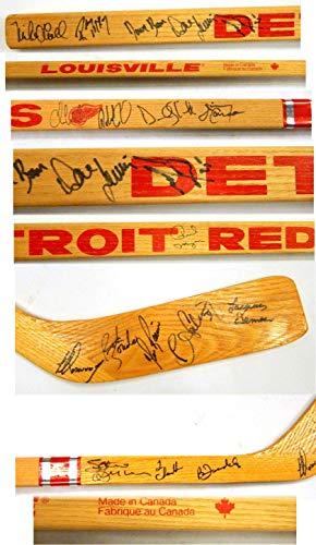 Hockey Signature Hockey Stick - 1980's Detroit Red Wings 18-Signatures Louisville Hockey Stick ~ Yzerman Auto - Autographed NHL Sticks