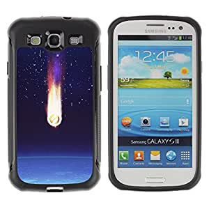 WAWU Rugged Armor Slim Protection Case Cover Shell -- comet earth art space stars atmosphere -- Samsung Galaxy S3 I9300