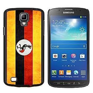 TECHCASE---Cubierta de la caja de protección para la piel dura ** Samsung Galaxy S4 Active i9295 ** --Nacional bandera de la nación País Uganda