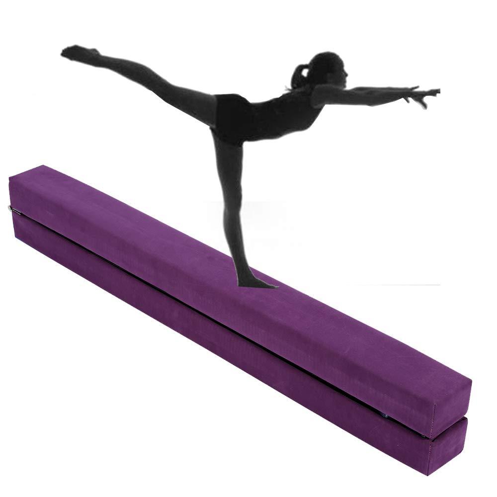 2,2m Poutre de Gymnastique Pliable Poutre Equilibre Entraînement Exercice Sportif à la Maison ou au Gymnase Cadeau Enfant Cusco