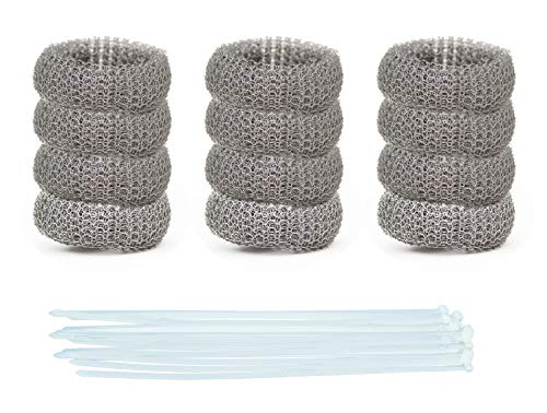 Pack of 50 Washing Machine Lint Traps Premium Snare and Rustproof Stainless Steel Mesh with Clamps