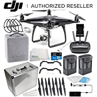 DJI Phantom 4 PRO Obsidian Edition Drone Quadcopter (Black) Essential Aluminum Case Travel Bundle