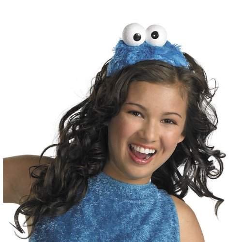 Monster Costumes Women (Disguise Women's Sesame Street Cookie Monster Adult Costume Headband, Blue, One Size)