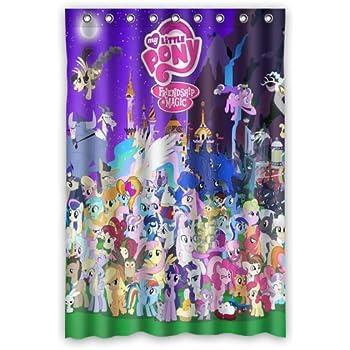 Scottshop Custom My Little Pony Waterproof Polyester Fabric Bathroom Shower Curtain 48 X 72 Inch
