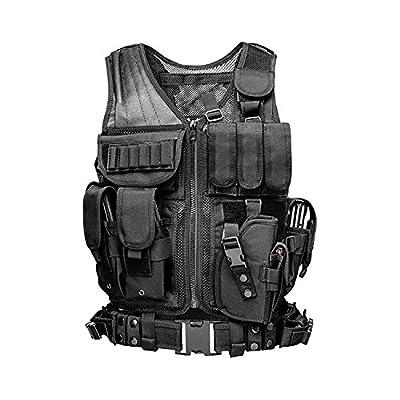 MINGWANG Tactical Vest Training Airsoft Vest, Ultra-Light Breathable Combat Adjustable Outdoors Vest