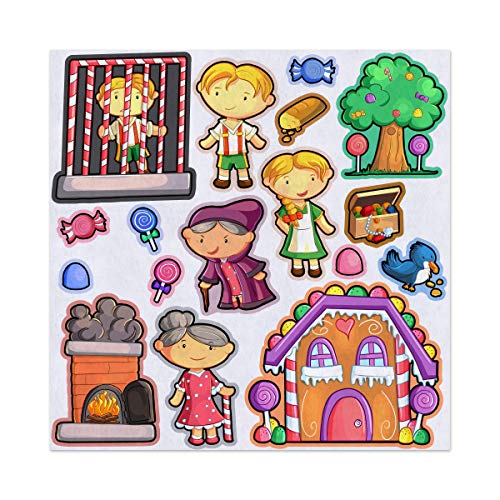 (Hansel and Gretel Story Adventure Felt Play Art Set Flannel Board Story Storyboard Pieces)