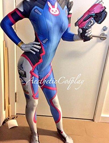 AestheticCosplay's Overwatch D.Va Cosplay Costume FULL Set Prop Gun & Headset Medium by AestheticCosplay (Image #5)