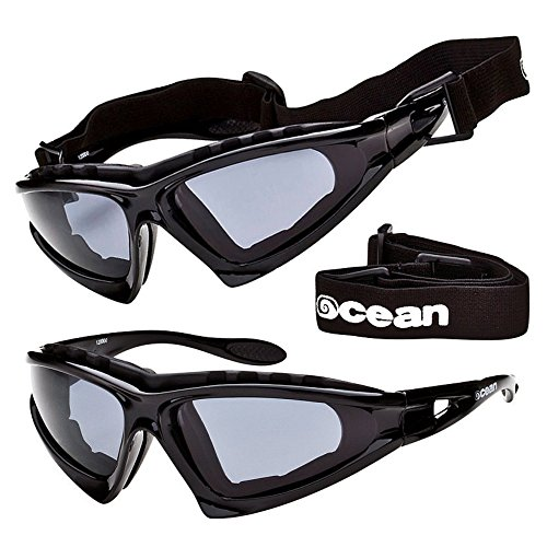 Ocean Sunglasses - Polarized Watersports Sun Glasses For Men and Women - Virtually Unbreakable Protective Eyewear For Surfing, Kitesurfing, Windsurfing, Sailing, SUP and - Sunglasses Windsurfing