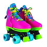 Circle Society Classic Adjustable Indoor & Outdoor Childrens Roller Skates - JoJo Rainbow - Sizes 12-3