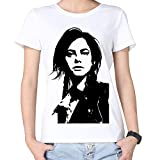 100% Cotton Womens Black And White Scodelario Tshirts White
