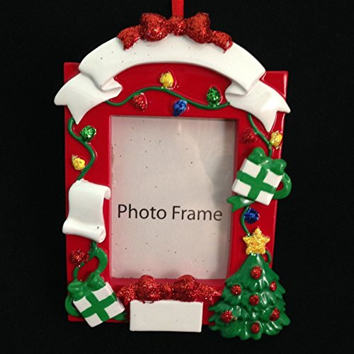 Decorated Christmas Picture Frame Ornament