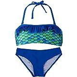 Bandeau Bikini Set, Aussie Green Top, Aussie Green Bottom, Girl's Medium offers