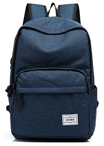 Unisexs Travel Bag Backpack Polyester Outdoor Backpack (Navy blue) - 2