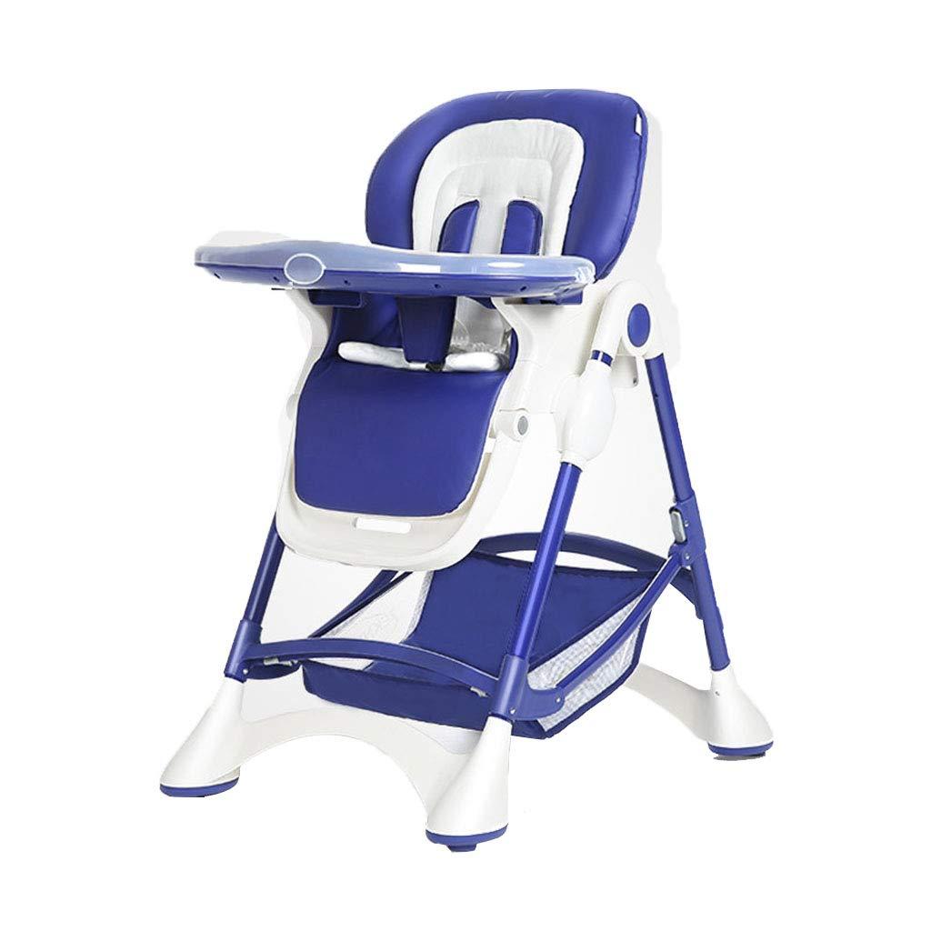 ポータブル折りたたみ式椅子多機能椅子ベビーダイニングチェア (Color : Blue, Size : 58 * 90 * 101cm) 58*90*101cm Blue B07GZDXCPB