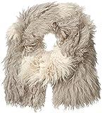 SOIA & KYO Women's Isabetta Dyed Mongolian Fur Scarf, Ash, One Size