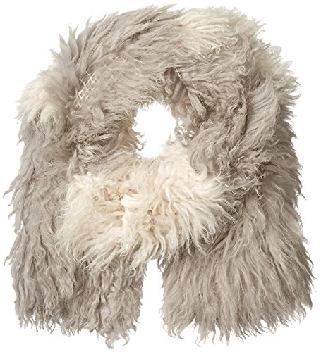 SOIA & KYO Women's Isabetta Dyed Mongolian Fur Scarf, Ash, One Size by Soia & Kyo