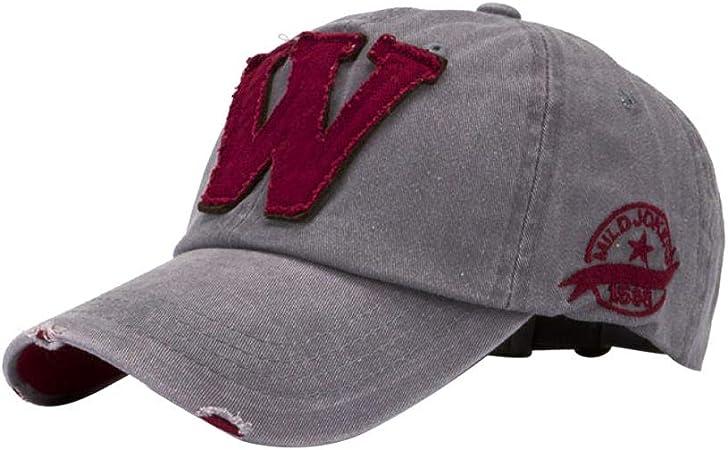 QuickZ SnapBack sombreros Unisex verano letra W Hockey béisbol ...