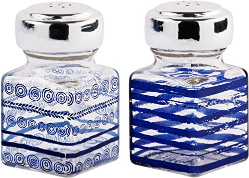 Home Essentials Indigo Daze Salt and Pepper Set of - Blue And Pepper Salt
