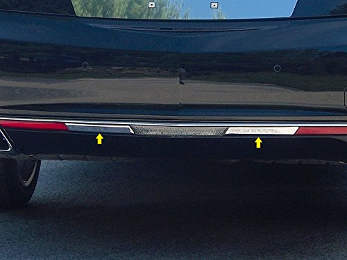 QAA FITS XTS 2013-2017 CADILLAC (2 Pc: Stainless Steel Marker Light Accent Trim, fits models with Dual Exhaust ONLY, 4-door) ML53245