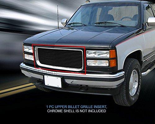 (Fedar 1988-1993 GMC Sierra/Suburban/Yukon Main Upper Billet Grille Grille 1-pc Set-Black)