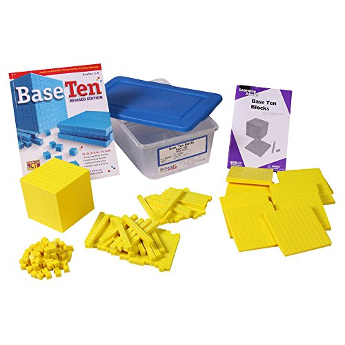 hand2mind Yellow Plastic Base Ten Blocks, Class Set by ETA hand2mind (Image #1)