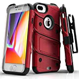 iPhone 7 Plus Case, Zizo [Bolt Series] w/ FREE [iPhone 7 Plus Screen Protector ] Kickstand [Military Grade Drop Tested] Holster Clip - iPhone 7 Plus