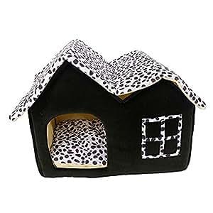 philna121pieza lujo doble de gama alta casa marrón de mascota Perro habitación