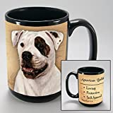 Dog Breeds (A-K) American Bulldog 15-oz Coffee Mug Bundle with Non-Negotiable K-Nine Cash by Imprints Plus (005)