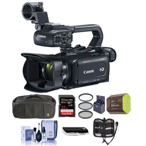(Canon XA15 Professional Camcorder with HDMI Terminal and an HD-SDI Interface - Bundle with Video Bag, 32GB SDHC U3 Card, Spare Battery, 58mm Filter Kit, Cleaning Kit, Memory Wallet, Card Reader)