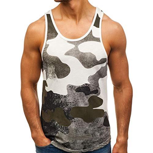 Men's Sleeveless T-Shirt Bodybuilding Tank Patchwork Sport Fitness Vest Outdoor t Shirt Summer top Army Green -