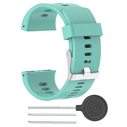 Hunpta Ersatz Silikon Rubber Watch Band Armband für Polar V800 Watch
