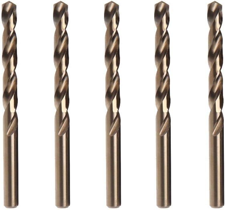 Drill Bits 1-13mm M35 for Stainless Steel Copper Aluminum Zinc Alloy HSSCo Twist Drill Bit Power Tools-13mm(5pcs) 5mm(10pcs)