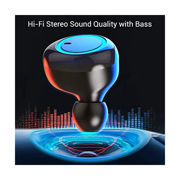51zv3NoC6VL pTron Bassbuds in-Ear True Wireless Bluetooth 5.0 Headphones with Hi-Fi Deep Bass, 20Hrs Playtime with Case, Ergonomic Sweatproof Earbuds, Noise Isolation, Voice Assistance & Built-in Mic - (Black)