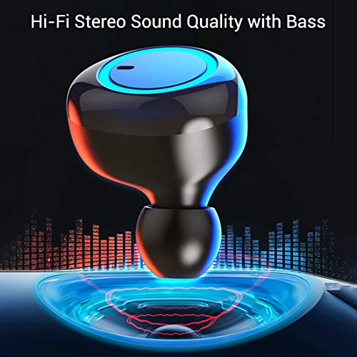 pTron Bassbuds in-Ear True Wireless Bluetooth Headphones (TWS) with Mic - (Black) 4