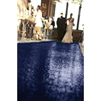 ShinyBeauty Navy 4FTx20FT Aisle Runner, Marriage Ceremony Floor Decoration Wedding Sequin Aisle Runner
