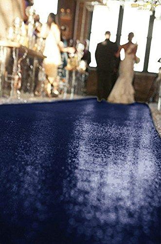 ShinyBeauty 4FTx50FT-Navy Blue-Sequin Aisle Runner, Sparkly Sequin Bridal Carpet, Shimmer Ultimate Party Floor Runner (Navy Blue) -