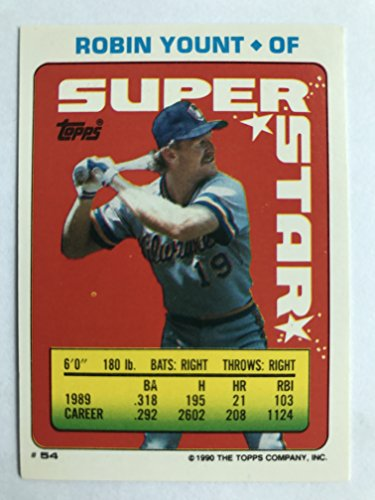 1990 Topps Sticker Backs #54(#133,#214) Robin Yount NM/M (Near Mint/Mint) ()
