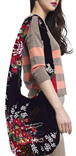 Witery Women's Sling Crossbody Bags Large Shoulder Shopping Hobo Bag Handbag Top Zip Bags Handmade Messenger Bag Wallet by Witery (Image #6)