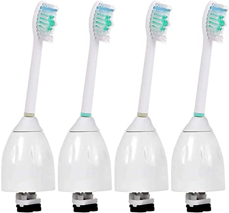 4 Pack Sonicare Toothbrush Heads, Replacement Brush Heads for Philips Sonicare E Series HX7001 HX7023, fits Elite, Essence, Advance, CleanCare,