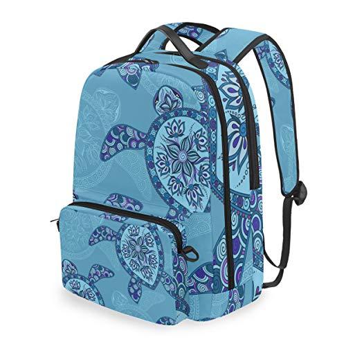 JOYPRINT Detachable Travel School Backpack Indian Tribal Floral Turtle, Shoulder Bag Daypack for Boys Girls Men Women