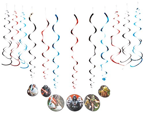 Star Wars Classic Value Pack Foil Swirl Decorations, Party -