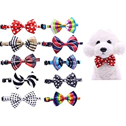 Yagopet 10pcs/pack New Pet Dog Bowties Dog Collar neckties Dog Ties Adjustable Pet Grooming Products Dog Accessories Cute Gift