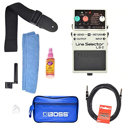 Boss LS-2 Line Selector Boss Promo Accessories Bundle