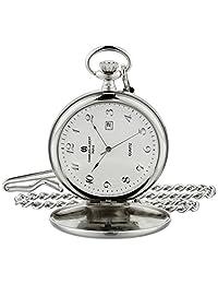 Charles-Hubert, Paris 3978-TA Classic Collection Analog Display Japanese Quartz Pocket Watch
